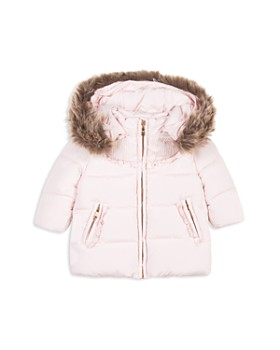 Tartine et Chocolat - Girls' Quilted Coat with Faux-Fur Trim - Baby