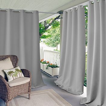 """Elrene Home Fashions - Connor Solid Indoor/Outdoor Curtain Panel, 52"""" x 84"""""""