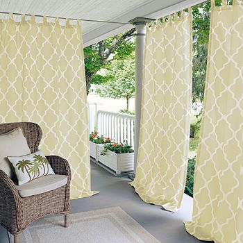 "Elrene Home Fashions - Corado Geometric Indoor/Outdoor Curtain Panel, 50"" x 95"""