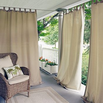 "Elrene Home Fashions - Matine Indoor/Outdoor Window Panel, 52"" x 108"""