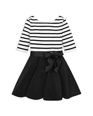 Ralph Lauren GIRLS' STRIPED BOW DRESS - LITTLE KID