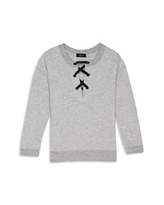 Rails - Girls' Oliver Lace-Up Terry Sweatshirt - Little Kid, Big Kid