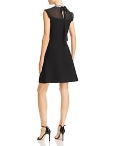 Sandro - Amarillys Mesh-Detail A-Line Dress