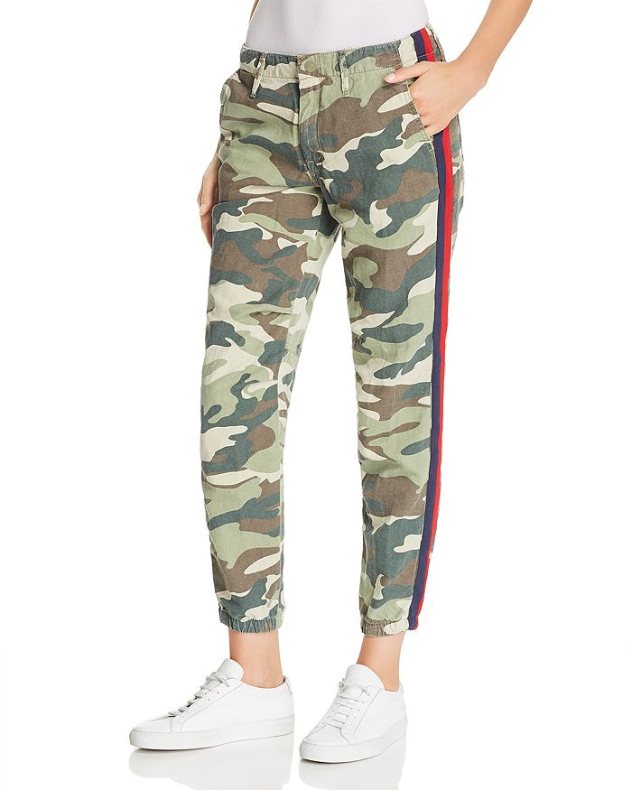 79edc8c8496 MOTHER - The Misfit Side-Stripe Camo Pants