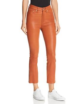 rag & bone/JEAN - Hana Cropped Flared Leather Pants