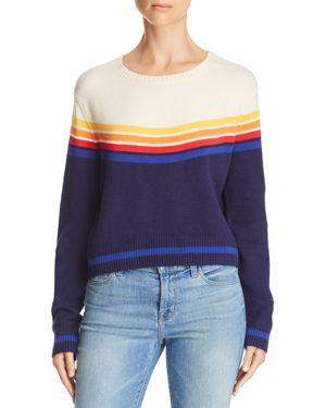 HONEY PUNCH Color-Block Sweater in Navy