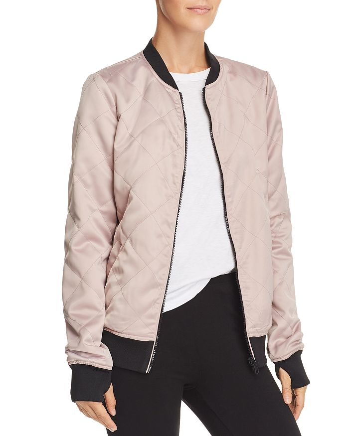 Blanc Noir Reversible Bomber Jacket In Camo/taupe