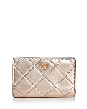 Tory Burch Georgia Medium Metallic Quilted Wallet