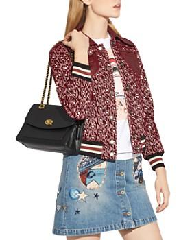 COACH - Parker Leather Shoulder Bag