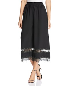 Donna Karan - Lace-Trimmed Crop Culottes