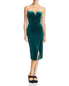 Yumi Kim - Allure Strapless Velvet Dress