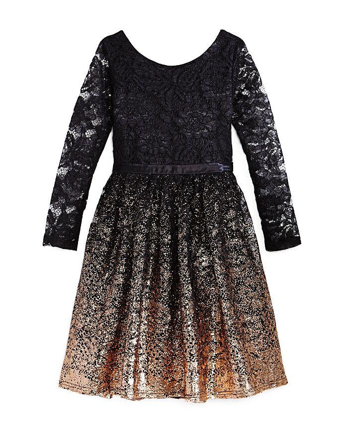 fdb2e8e85fe0 US Angels Girls  Ombré Glitter Lace Dress - Big Kid