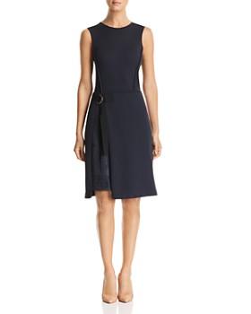 BOSS - Etuli Mixed Media A-Line Dress