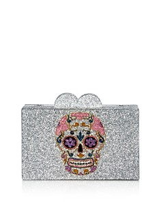 GiGi - Girls' Skull Glitter Box Bag