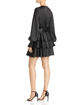 AQUA - Tiered Satin Dress - 100% Exclusive