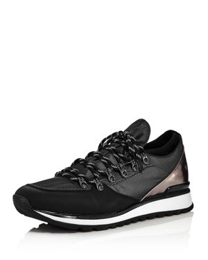Karl Lagerfeld Paris Men's Mixed-Media Lace-Up Sneakers