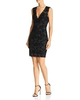 GUESS - Drea Sleeveless Flocked-Lace Dress