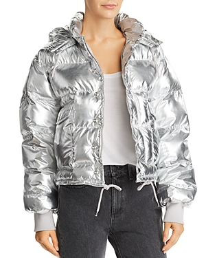 Pistola Shazia Metallic Hooded Puffer Jacket