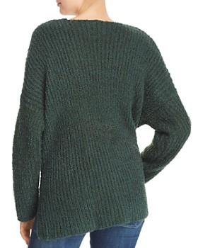 Sadie & Sage - Chunky Ribbed Knit V-Neck Sweater