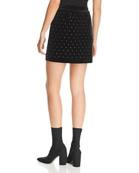 Rebecca Minkoff - Betsy Studded Velvet Mini Skirt
