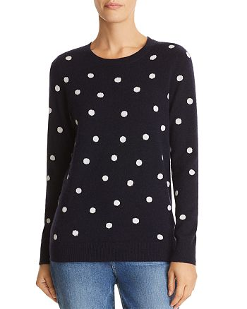 C by Bloomingdale's - Polka Dot Intarsia Cashmere Sweater - 100% Exclusive