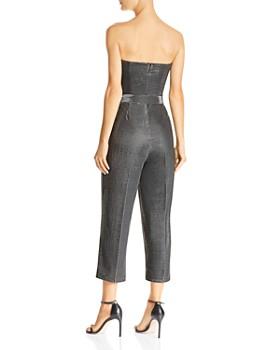 Lucy Paris - Alex Strapless Metallic Cropped Jumpsuit