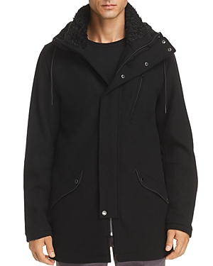 Karl Lagerfeld Paris Faux Fur-Trimmed Parka