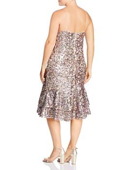 Adrianna Papell Plus - Sequined Midi Dress