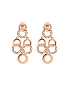 ADORE - Interlocking Rings Chandelier Earrings