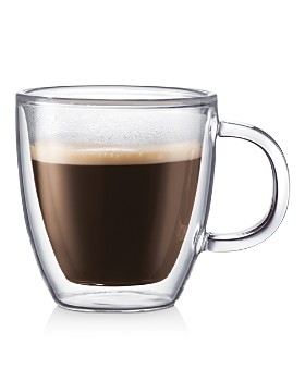 Bodum - Bistro Double-Wall Mugs, Set of 6