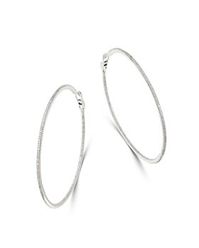 Bloomingdale's - Diamond Oversized Inside-Out Hoop Earrings in 14K White Gold, 2.0 ct. t.w. - 100% Exclusive