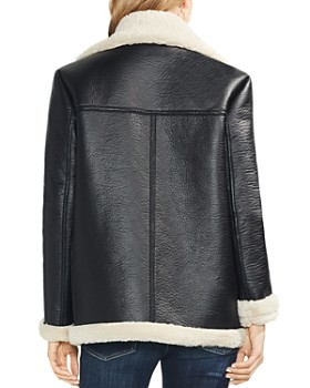 VINCE CAMUTO - Faux Shearling Moto Jacket