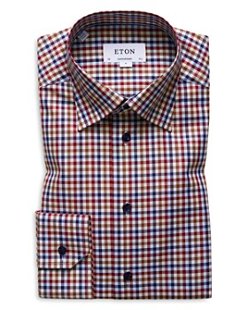 Eton - Multicolored Gingham Regular Fit Dress Shirt