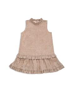 kate spade new york - Girls' Ruffled Metallic Crepe Dress - Little Kid