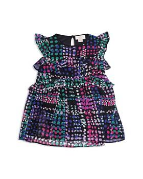 kate spade new york -  Girls' Ruffle Dotted Dress - Little Kid