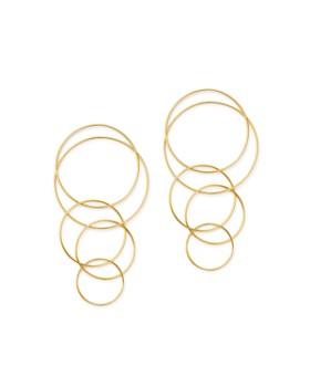 Moon & Meadow - Interlocking Rings Drop Earrings in 14K Yellow Gold - 100% Exclusive