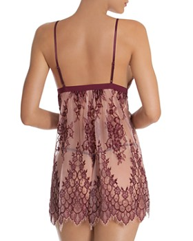 In Bloom by Jonquil - Two-Tone Lace Chemise & Thong Set