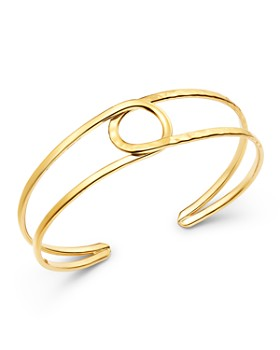 Bloomingdale's - 14K Yellow Gold Circle Cuff - 100% Exclusive