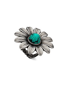 Gucci Sterling Silver GG Marmont Flower Ring - Bloomingdale's_0