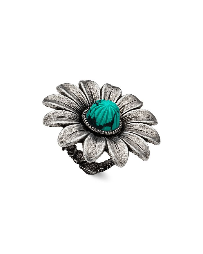 32faa776dff Gucci - Sterling Silver GG Marmont Flower Ring
