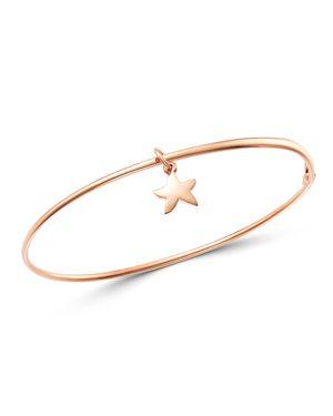 DODO Starfish Charm Bangle Bracelet in Rose Gold