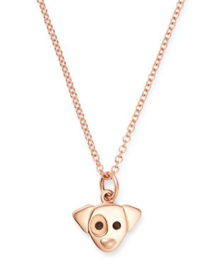 DODO Jack Russell Pendant Necklace, 15.7 in Rose Gold