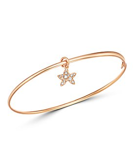 Dodo - Starfish Charm Brown Diamond Bangle Bracelet