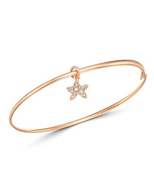 Dodo Starfish Charm Brown Diamond Bangle Bracelet