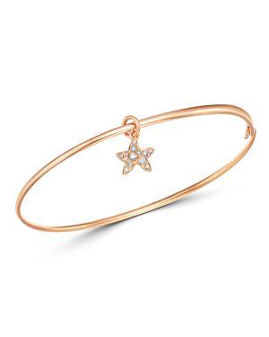Dodo Starfish Charm Brown Diamond Bangle Bracelet
