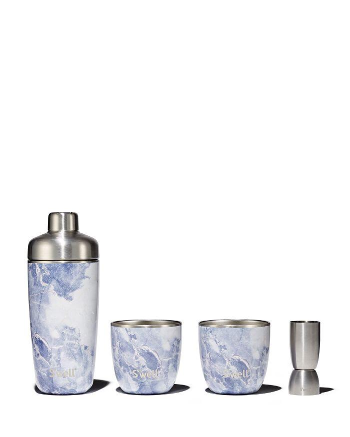 S'well - Blue Granite 4-Piece Barware Set - 100% Exclusive