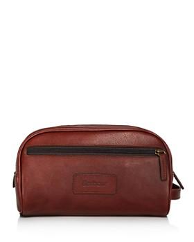 Barbour - Leather Washbag