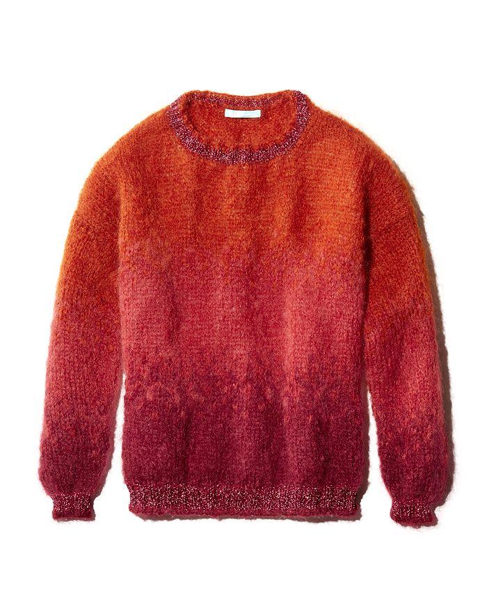 Rose Carmine - Shimmer-Trim Ombré Sweater