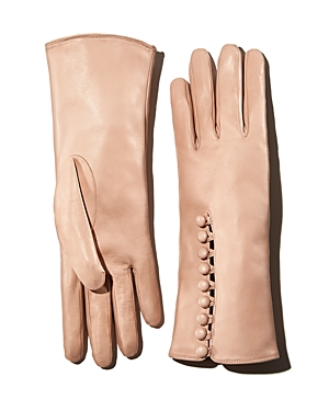 Vintage Style Gloves- Long, Wrist, Evening, Day, Leather, Lace Portolano Button Leather Gloves AUD 309.54 AT vintagedancer.com