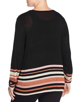JUNAROSE Plus - Mirah Metallic Striped Sweater